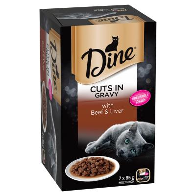 Dine Cuts in Gravy with Beef & Liver 7 x 85g