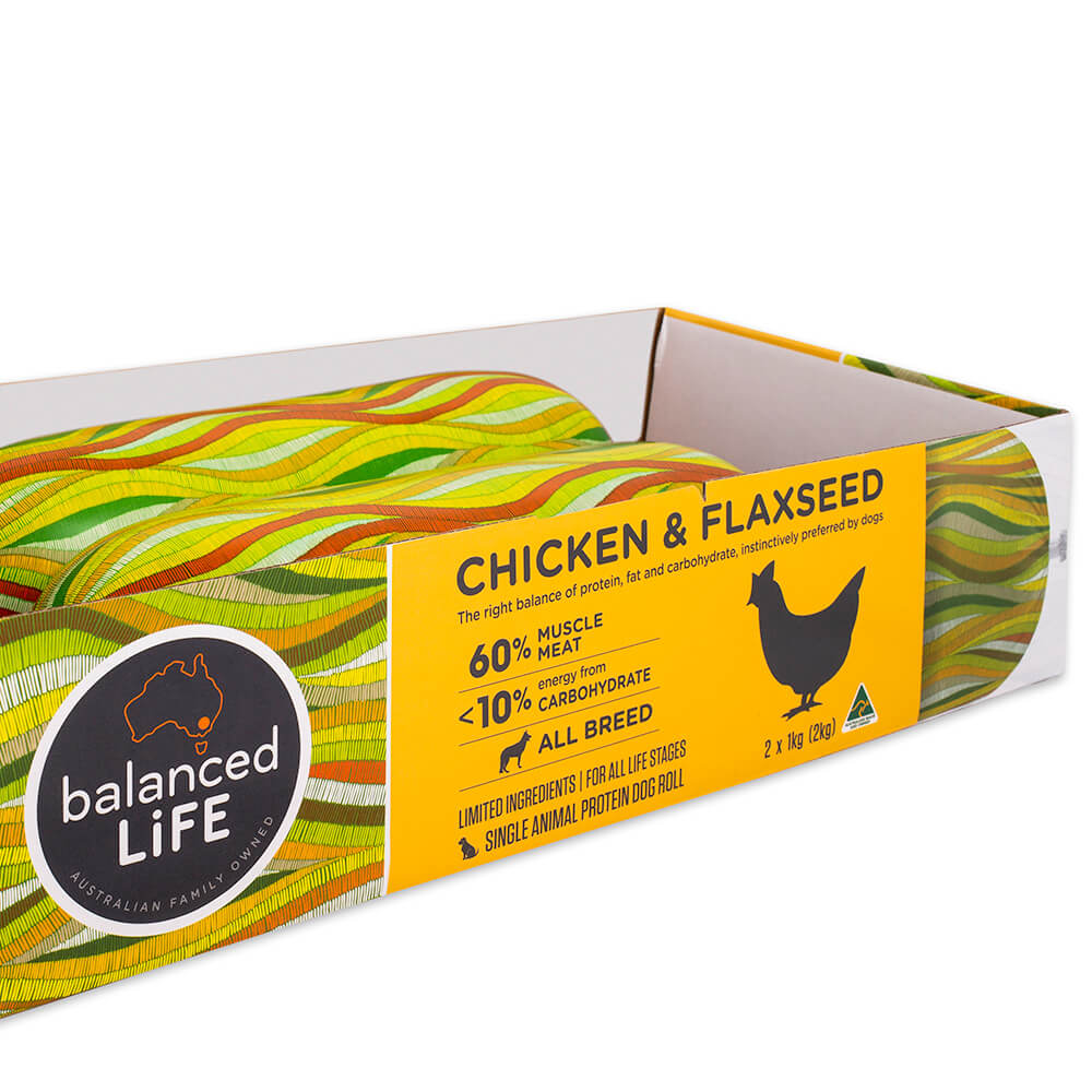 Balanced Life Limited Ingredient Diet (Lid) Rolls Chicken & Flaxseed 2Kg.